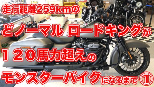 走行距離259kmの どノーマルロードキングが120馬力超えのモンスターバイクになるまで